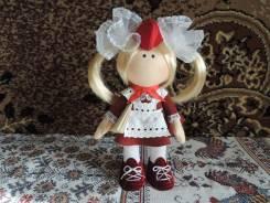 Текстильные куклы в ретро стиле советских времен