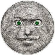 Большая красивая монета Кристаллы Манул