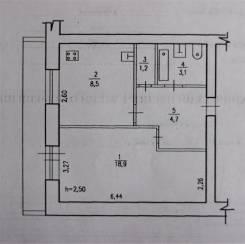 1-комнатная, улица Кирова 13, п. Хор. Индустриальный, агентство, 36 кв.м.