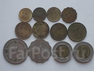 Гонконг подборка из 12 монет. Без повторов! Торги с 1 рубля!