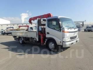 Hino Dutro. бортовой грузовик с монипулятором, 5 300 куб. см., 2 000 кг. Под заказ