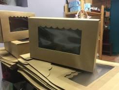 Крафтовая коробка с окошком