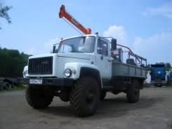 ГАЗ 3308 Садко. Бурильно-крановая машина (ямобур) БКМ-317 на на базе ГАЗ-33081 Садко, 4 750 куб. см., 1 250 кг.