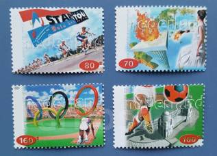 1996 Нидерланды. Спорт. 4 марки Чистые