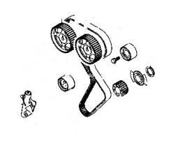 Ремкомплект системы газораспределения. Hyundai: Sonata, Lantra, Grandeur, Trajet, Santa Fe, Santamo, Marcia, Elantra, Dynasty, H1 Mitsubishi: Eclipse...
