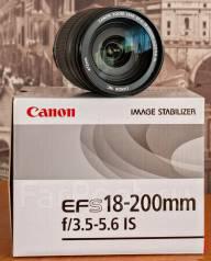 Продам объектив Canon EFS 18-200mm f/3.5-5.6 IS. Для Canon, диаметр фильтра 72 мм