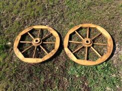 Декоративное деревянное колесо для телеги