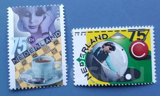 1986 Нидерланды. Спорт. Шашки и биллиард. 2 марки. Чистые