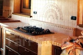 Кухни из кафеля, мозаики. Под заказ