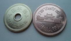 Япония, 5 иен 1976 + 10 иен 1982
