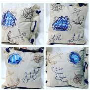 Декоративные Подушки с машинной вышивкой(ручная работа)