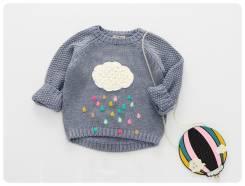 Пуловеры. Рост: 60-68, 68-74, 74-80, 80-86, 86-98, 98-104, 104-110 см. Под заказ