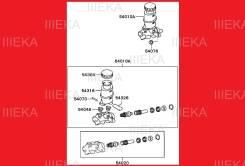 Ремкомплект главного тормозного цилиндра. Mitsubishi Pajero iO, H67W, H77W, H76W, H66W, H61W, H62W, H72W, H71W
