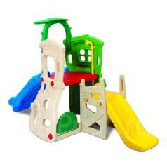 Продам детский игровой комплекс домик+2 горки