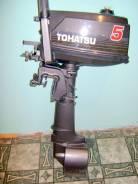 Tohatsu. 5,00л.с., 2х тактный, бензин, нога S (381 мм), Год: 2010 год