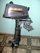 Suzuki. 4,00л.с., 2х тактный, бензин, нога S (381 мм), Год: 2009 год