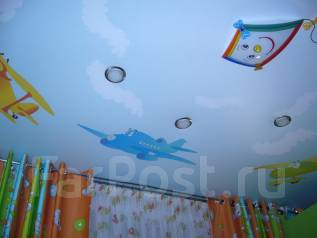 Натяжной потолок в детскую. Тип объекта квартира, комната, срок выполнения неделя