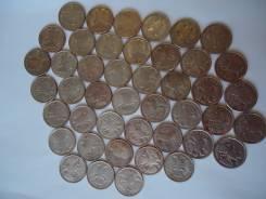 Монеты 10 рублей 1992-1993гг, 44шт.
