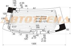 Стекло боковое. Nissan Avenir, PW11, PNW11