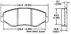 Колодка тормозная. Honda Accord, CR5, CR7, CR6 Honda Civic Honda CR-V Honda MR-V Двигатели: J35A9, J35A6, J35A4