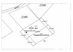 Участок в Борисовке. 1 260 кв.м., собственность, электричество, от частного лица (собственник). Схема участка