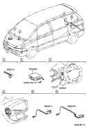Датчик парктроника. Toyota Tarago, CLR30, ACR30 Toyota Previa, ACR30, CLR30 Toyota Estima, ACR30, AHR10, MCR30W, ACR30W, MCR30, AHR10W, MCR40W, ACR40W...