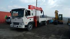 Hyundai HD120. Hyundai HD 120-грузовой бортовой с манипулятором 7.1 тонн + корзина, 6 600 куб. см., 6 500 кг.