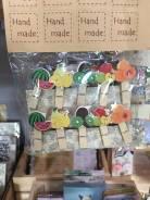 """Набор декоративных пришепок """"спелые фрукты"""""""