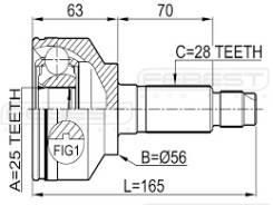 Шрус подвески. Kia Sorento Двигатели: D4CB, A, ENG