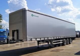 Grunwald. Шторный полуприцеп Gr-CSt, 31 400 кг.