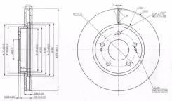 Диск тормозной. Mitsubishi Diamante, F34A, F46A, F36A, F31AK, F41A, F31A