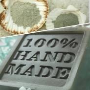 Мыло ручной работы с голубой глиной.