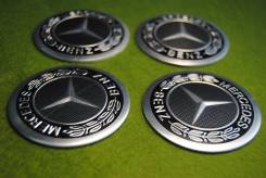 "Заглушки Mercedes-Benz! на колпачки дисков,4 шт.! 62 mm. Торги с рубля!. Диаметр Диаметр: 16"", 1 шт."