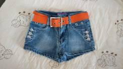 Шорты джинсовые. Рост: 128-134, 134-140, 140-146 см