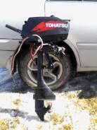 Tohatsu. 3,50л.с., 2х тактный, бензин, нога S (381 мм), Год: 2014 год