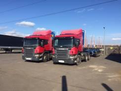Scania P380CA 6x4 NHZ New Griffin 6x4. Тягач Scania P380 6x4 + П/прицеп -сортиментовоз, 12 000 куб. см., 20 000 кг.