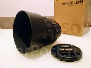 Продам объектив Nikon 50mm f/1.8G AF-S. Как новый. Зав комл. Торг. Для Nikon, диаметр фильтра 58 мм