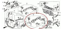 Лонжерон. Acura RL Acura Legend Honda Legend, DBA-KB2, DBA-KB1, KB2, KB1, DBAKB1, DBAKB2 Двигатели: J37A, J35A, J35A8, J37A3