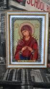 Продам икону ручной работы вышитая бисером.