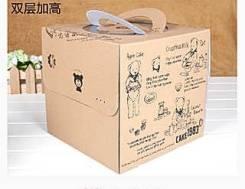 Коробка для торта с ручкой