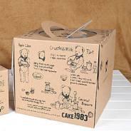 Коробка для большого торта с ручкой
