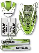 Набор наклеек FactoryEffex (переднее-заднее крыло,маятник,вилка) 14-50124 KX250F/450F(06-08)