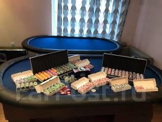 Покерный набор, стол для покера
