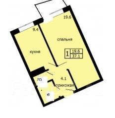 1-комнатная, Дальневосточная 34. Северо-восток , агентство, 37 кв.м.