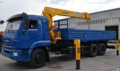Камаз 65117. КМУ -773010-19+Soosan SCS736LII верх. упр. + борт сталь 6,8м, 100 куб. см., 7 000 кг.