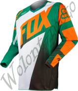 Мотоджерси детская Детская: M Зеленый с оранжевым Fox 180 Vandal Kids Jersey 11452-147-M