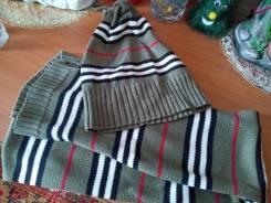 Шапка и шарф. Рост: 122-128, 128-134, 134-140 см