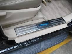 Накладка на порог. Toyota Land Cruiser Prado, GDJ150L, GRJ151, GDJ150W, GRJ150, GDJ151W, GRJ150L, TRJ150, KDJ150L, GRJ150W, GRJ151W, TRJ150W. Под зака...