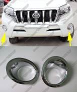 Накладка на фару. Toyota Land Cruiser Prado, GDJ150L, GRJ151, GDJ150W, GRJ150, GRJ150L, GDJ151W, TRJ150, KDJ150L, GRJ150W, GRJ151W, TRJ150W. Под заказ