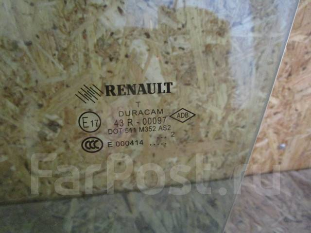 Стекло боковое. Renault Megane Renault Fluence Двигатели: 5AM, F4R, H4M, K4M, K9K, M4R, R9M